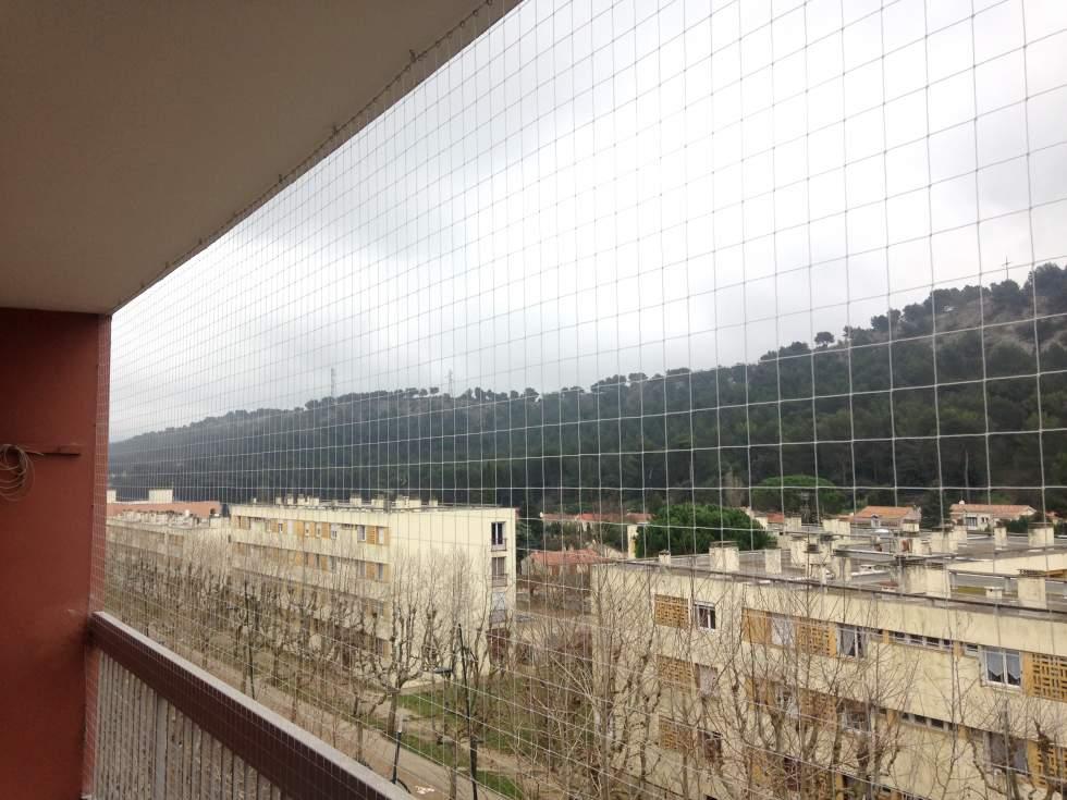 filet anti pigeons balcon