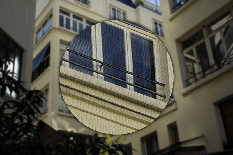 filet anti pigeon balcon transparent